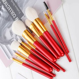 $enCountryForm.capitalKeyWord NZ - 10 Sticks Multi-function Makeup brushes Powder Concealer Blush Liquid Foundation BB Cream Makeup Brushes Set Suitable For Beginners