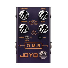 pedal auto Australia - JOYO R-06 O.M.B Guitar Effect Pedal Looper Drum Machine Auto-Align Count-In Recording Electric Guitar Monoblock Effect Processor