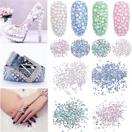 Wholesale Multi size Bag Glass Nail Art Decorations Crystal Strass Gem Nail Rhinestone Partition Rhinestone Art Tools
