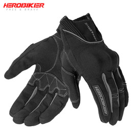 summer motorcycle riding gloves Australia - HEROBIKER Motorcycle Gloves Off Road Riding Luva Motociclista Guantes MotorBiker Touch Screen Motocross Gloves Moto bike