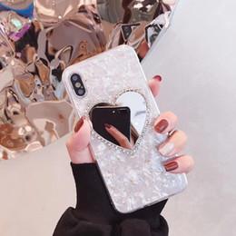 $enCountryForm.capitalKeyWord Australia - Mytoto fashion Diamond Marble Love Makeup mirror Phone Case for iphone 6 S 7 8 plus X XR XS MAX