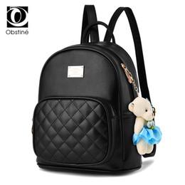 Cute Dresses For School UK - Classical Women Backpack for Teens Black PU Leather Cute Bagpack Bags Cheap Backpacks for School Teenagers Girls Backbag Female