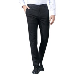 $enCountryForm.capitalKeyWord UK - TFETTERS Summer 2019 Men's Fashion Business Casual Long Pants Suit Pants Male Elastic Straight Formal Trousers Plus Size 28-38