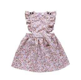 $enCountryForm.capitalKeyWord UK - Small and Medium Girl Dresses with Broken Flower Flying Sleeves Summer Princess Skirt for Foreign Trade