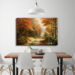 $enCountryForm.capitalKeyWord Canada - A Walk Down Autumn Lane By Thomas Kinkade HD Canvas Posters Prints Bar Wall Art Painting Picture Modern Theater Home Decoration