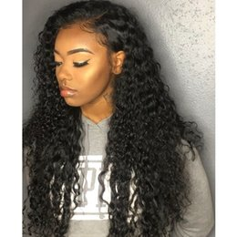 burmese hair Australia - 8''-10'' inch Full lace human hair wigs deep wave lace front with baby hair wigs Swiss Lace Cap pre plucked can be permed