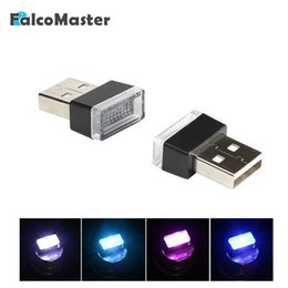 $enCountryForm.capitalKeyWord Australia - Universal Mini USB Night Light LED Car Interior Atmosphere Lights Feet Lamp Illumination Decoration Interior Bulbs 4 Colors
