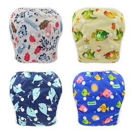 $enCountryForm.capitalKeyWord Canada - Mixed Colors Baby Reusable Swimming Cloth Diapers Washable Patterns Printed Baby Nappies 2019 Brand Adjustable Diapers for Newborn