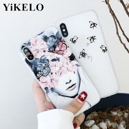 Cartoon Iphone6 Plus Case Australia - Phone Case For Iphone 6s 7 8 Plus X Fashion Cartoon Beautiful Flower Butterfly Bees Soft Tpu For Iphone6 6 S 6plus Covers