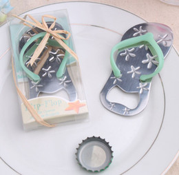 Wholesale Flip Flop Bottle Opener Wedding Favors Beach Theme Openers Bridal Shower Party Event Favors Pink Blue Color Beer Bottle Opener