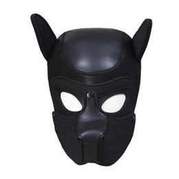 couple sex dog 2021 - 2019 Sexy Bondage Hook Fetish Zipper Mouth Dog Mask Sex Toys For Woman Couples Restraints Adult Games PU Leather Hood Mask A668
