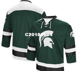 China Customize Vintage Colosseum Michigan State Spartans Athletic Machine Hockey Jersey Embroidery Stitched or custom any name or number Jersey cheap numbering machines suppliers