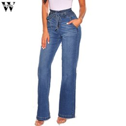 legging jeans plus size NZ - Womail 2019 Ladies Blue High Waist Jeans Boyfriend Jeans For Women Denim Skinny Woman's Female Wide Leg Plus Size