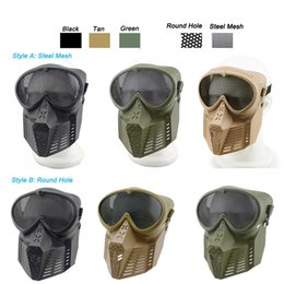 $enCountryForm.capitalKeyWord Australia - Outdoor Airsoft Shooting Face Protection Gear Metal Steel Wire Mesh Full Face Bee Style Tactical Airsoft Mask