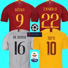 84ba024b4 Thailand DZEKO PEROTTI PASTORE ZANIOLO soccer jersey rome 2019 TOTTI jersey  18 19 football kit shirt DE ROSSI JESUS as maillot de foot roma