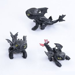 Train Figures Australia - How to Train Your Dragon Toothless PVC Action Figure Toy Toothless Toys Cartoon Movie Light Fury Black Doll Gift For Children's Birthday