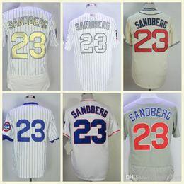 3e7ec4bb4c7 1984 1988 Chicago Baseball Jersey Vintage Retro Jerseys Cool Base Flexbase  Pinstripe Blue Gold Cream Ryne Sandberg Jersey