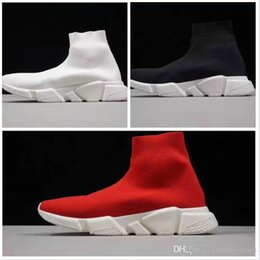 Discount best canvas shoes for women - Best Level HOT NEW Speed sock high quality Speed Trainer shoes for men and women shoes Speed stretch-knit shoes Mid snea