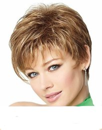 $enCountryForm.capitalKeyWord UK - Fashion sexy Women's ladies short Brown blonde mixed wigs for women wig Free deliver