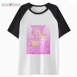 hip hop clothing for wholesale UK - Vaporwave Aesthetic Vapor Wave t shirt men tee streetwear for t-shirt harajuku top hip tshirt clothing male funny hop t06