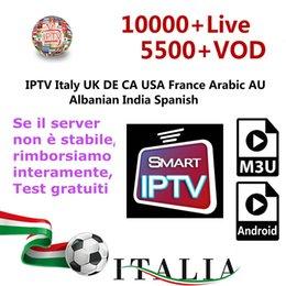 Mejor suscripción IPTV 9000 + Live For árabe IPTV Francia Reino Unido Italia Alemania Abonnement Iptv Soporte M3U Mag Box Smart TV en venta