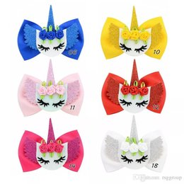 $enCountryForm.capitalKeyWord Australia - Free DHL INS 6 Styles jojo bows girl hair barrettes Smile Flower Unicorn Clippers Girls Hair Clips JOJO SIWA Hair Accessories