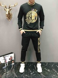 Wholesale velour sweat suits resale online – New Winter Tracksuit Men Luxury Sweat Suits Autumn Brand Mens Jogger Suits Jacket Pants Sets Sporting WOMEN Suit Hip Hop Sets M XL