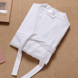 789e8688b1 Bathrobe women Kimono Robe For Women Sleepwear ladies Waffle Solid  Nightgown Bathrobe Bridesmaid Robes Dressing Gown Pink White