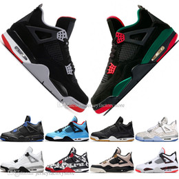 Laser cut out box online shopping - With Box Discount Newest Bred IV s What The Cactus Jack Laser Wings Mens Basketball Shoes Eminem Pale Citron Men Sports Designer Sneakers