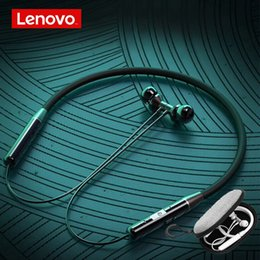 lenovo headphones bluetooth Canada - heap Bluetooth Earphones & Headphones Lenovo Bluetooth Stereo Sports Headset Noise Reduction Magnetic Wireless earphone Runing Headset fo...
