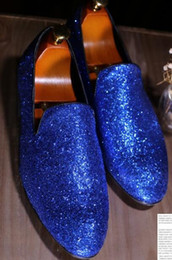 Shining Patent Leather Shoes NZ - 2019 Men's shoe's Fashion Grids Pattern Leather Loafers Shining Sequins Formal Dress Shoes Big Size Mens Wedding Party Shoes