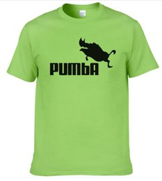 Cotton Jersey T Shirts Wholesalers NZ - 2019 funny tee cute t shirts homme Pumba men casual short sleeves cotton tops cool tshirt summer jersey costume t-shirt