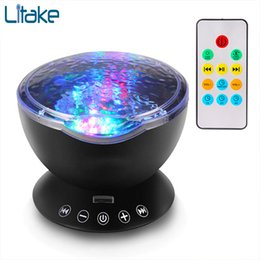 $enCountryForm.capitalKeyWord Australia - Dropship 7colors Led Light Starry Sky Remote Control Ocean Wave Projector With Music Novelty Baby Night Lamp For Kids Q190611