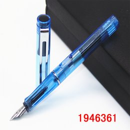 writing sets wholesale UK - NEW Fountain Pen With Luxury Set 0.5mm Black F Nib Converter Pen Steel Ink Pens Simple Business Signing Pen Writing Pens