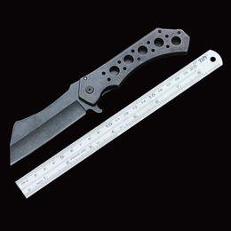 Venta al por mayor de Cuchillo plegable táctico cabeza de cuchillo de cocina ZT 440C hoja 57HRC eje cuchillo de combate de bloqueo