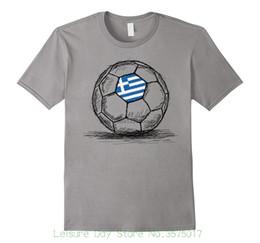 t shirt jersey design 2019 - Men T Shirt Print Cotton Short Sleeve T-shirt Greece Greek Flag Design On Soccerite Ball Jersey T-shirt discount t shirt