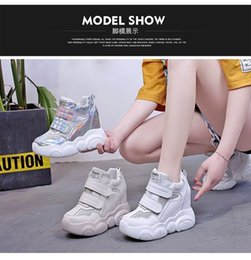 thick base shoes women Canada - Attractive2019 Shoes Women's Jibaitao Muffin Thick Base High With Leisure Time Single Motion Within Increase Dad Shoe