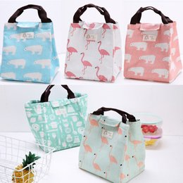 lunch bags boys Australia - Cute Cartoon Print Womens Kids Girl Boy Lunch Bags Portable Insulated Thermal Lunch Box Carry Tote Picnic Case