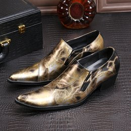 $enCountryForm.capitalKeyWord NZ - Hot Sale-esigner Formal Mens Dress shoes Cowskin Leather Gold Red Printing Luxury Wedding Party shoes Men Elevator Shoes for male