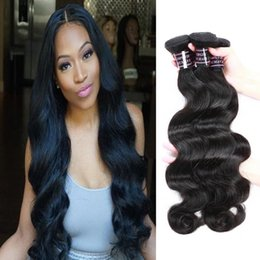 Mongolian straight hair bundle online shopping - Malaysian Deep Loose Brazilian Body Wave Hair Extensions Peruvian Virgin Human Hair Bundles Deep Wave Water Wave Curly Yaki Straight