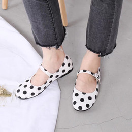 $enCountryForm.capitalKeyWord Australia - Gorgeous2019 Wave Gang Xin Point Shallow Mouth Sweet Mary Jane Student Single Shoe Woman Casual Shoes