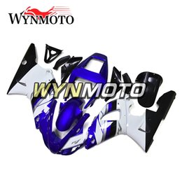 oem fairings UK - OEM Injection Motorcycle Bodywork ABS Injection Bodywork For Yamaha YZF1000 R1 Year 1998 1999 Complete Fairing Kit Body Frames Blue White
