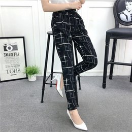 $enCountryForm.capitalKeyWord Australia - Fashion New Summer Wide Leg Pants Women High Waist Plaid Striped Slim Palazzo Pants Elegant Office Ladies Trousers