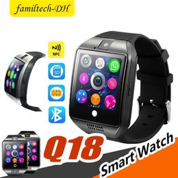 smart watch 4.4 Australia - Q18 Plus Android 4.4 Smart Watch Phone 3G GPS WiFi Fashion Wristwatch Camera Video Smartwatch With 512MB 4G Memory Bluetooth Clock