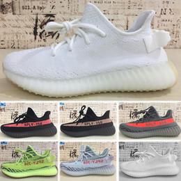 Shoe Flash Sale Australia - Flash Deal Sply 35O V2 Kanye West Running Shoes Discount Semi Frozen Cream White Zebra Bred Hot Sale Beluga 2.0 Sneakers Athletic Sports