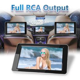 9 pollici TFT LCD a colori poggiatesta DVD Monitor 1024x600 ingresso HD Radio AV Monitor per car audio lettore DVD in Offerta