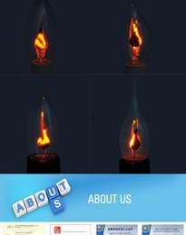 $enCountryForm.capitalKeyWord Australia - Flicker Led Candle Light Flame Bulb E14 E27 Emulation Fire Lighting 3W 220V Tail Retro Decor Energy Saving Lamp Halloween Decor