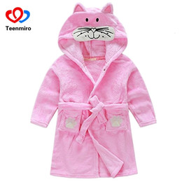$enCountryForm.capitalKeyWord Australia - Baby Boys Velvet Sleepwear Robes Children Bathrobes Pajamas for Girls Kids Coral Clothes Toddler Cartoon Pijamas Kids Bath Robes SH190912