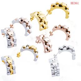 ZHF Bijoux Vente Chaude 100% Marque Boucles D'oreilles Pour Les Femmes Fille Authentique Original Bijoux Avec Origianl Logo en Solde