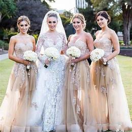 $enCountryForm.capitalKeyWord Australia - 2019 Pretty Applique Long Bridesmaid Dresses Sweetheart Neckline Floor Length Party Gowns Sleeves A Line Formal Prom Dress